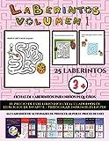 Fichas de laberintos para niños pequeños (Laberintos - Volumen 1): (25 fichas imprimibles con...