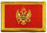 Aufnäher Patch Flagge Montenegro - 8 x 6 cm