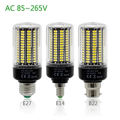 Smd LED-lamp Ce & Rohs 5736 SMD meer heldere 5730 5733 LED maïslamp 3W 5W 7W 9W 12W 15W E27 E14 B22 lamplicht 85V-265V Geen flikkeren