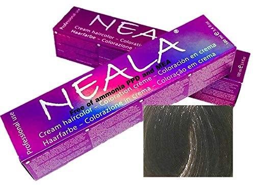 Professionele kleuring haarkleur zonder ammoniak en vrij van PPD en MEA - 7.1-MEDIUM AS BLONDE - NEALA 100 ml.
