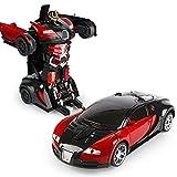 FYRMMD Coche RC electrónico Transformar Robot 1:14 2.4GHz Control remoto Coche y Robot Racing Car Gesto Sensing De(coche de control remoto)