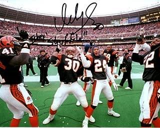Ickey Woods Autographed Cincinnati Bengals (Dancing Horiz) 8x10 Photo w/