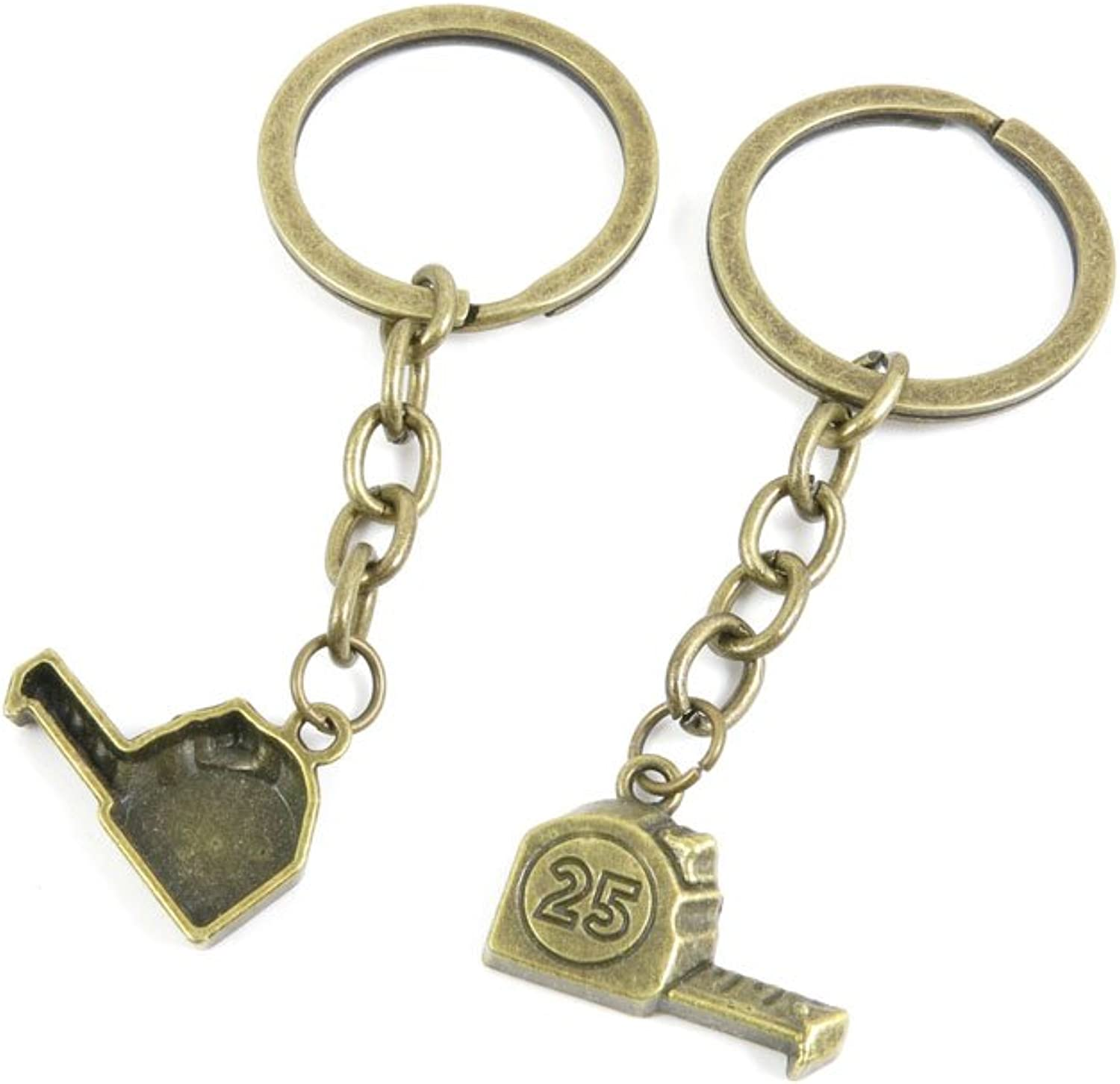 230 Pieces Fashion Jewelry Keyring Keychain Door Car Key Tag Ring Chain Supplier Supply Wholesale Bulk Lots I4WG6 Tape Measure