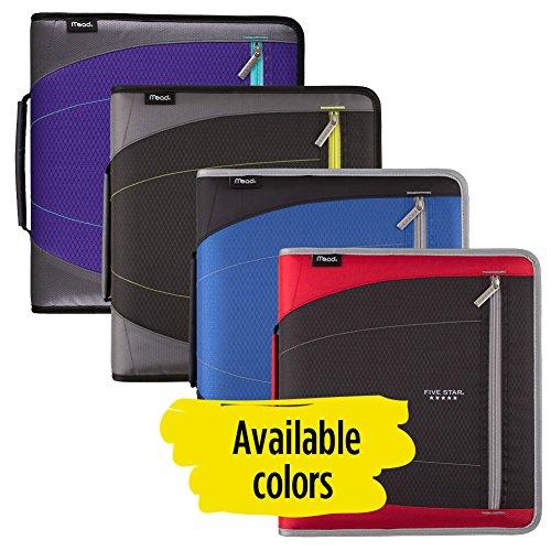 Five Star Zipper Binder, 2 Inch 3 Ring Binder, Removable File Folders, Durable, Blue (73285) Photo #6