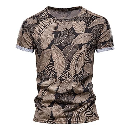 Playeras para Hombre Camiseta de Playa de Manga Corta Ajustada de Verano para Hombre Camiseta Deportiva de Manga Corta Estampada para Hombre