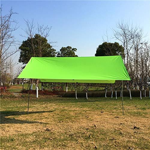 YQS Sunshade Sails Waterproof Sun Shelter Awning Tent Tarp 3x3m Outdoor Camping Hammock Rain Fly Anti UV Beach Sunshade Canopy (Color : Green)
