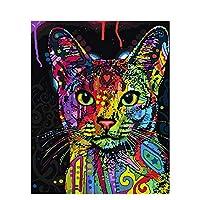 絵画 SFBBBO 数字でフレームDiy絵画アクリルカラフルな動物家の装飾アートのための数字で手描きのオイルペイント50x65cmdiyframe99029
