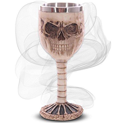 mtb more energy Kelch Cocktail Skull - Totenkopf auf Wirbelsäule - Deko Horror Fantasy