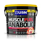 USN Muscle Fuel Anabolic Strawberry Lean Muscle Gain Shake Powder, 4000 g