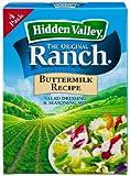 Hidden Valley Buttermilk Ranch Salad Dressing & Seasoning Mix, Gluten Free - Pack of 3