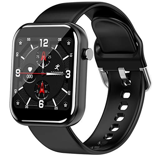 Smartwatch Orologio Fitness Uomo Donna Impermeabile IP68 Smart Watch Cardiofrequenzimetro da Polso Contapassi Smartband Activity Tracker Bambini Cronometro per Android iOS