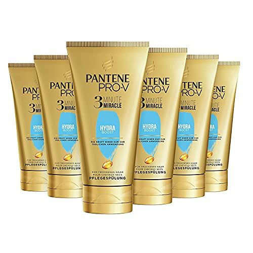 Pantene Pro-V Hydra Boost 3 Minute Miracle Pflegespülung Für Trockenes Haar, 6er Pack (6 x 150ml), Haar Pflege Kur, Trockene Haare Conditioner, Haarpflege, Haarkur Trockene...