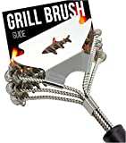Bristle Free Grill Brush and Scraper - BBQ Cleaner Tool - Spring Coil Grate Scrubber. New 2020 Model