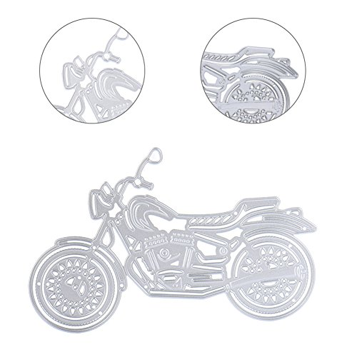 LianLe Stanzschablonen Metall Schneiden Schablonen für DIY Scrapbooking Album Papier Karten Sammelalbum Dekor (Cool Motorrad 130*95mm)