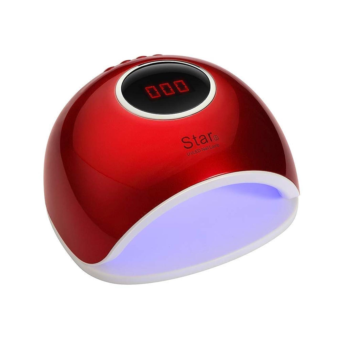 士気シーンブロックする72Wネイルランプ、プロフェッショナルスマートセンサー速乾性痛みのないモードUVネイルドライヤー33ダブル光源LED&4タイマー設定