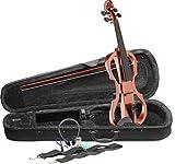 Stagg EVN X-4/4VBR violín eléctrico, tamaño completo