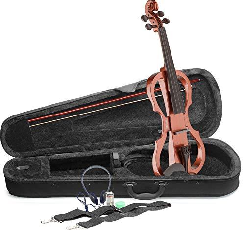 Stagg EVN x-4/4VBR Elektrische Violine Outfit, Full Size