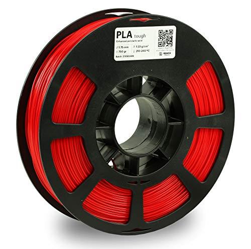 KODAK PLA Tough Filament 1.75mm for 3D Printer, Red, Dimensional Accuracy +/- 0.02mm, 750g Spool (1.7lbs), PLA Tough Filament 1.75 Used as 3D Printer Filament to Refill Most FDM Printers