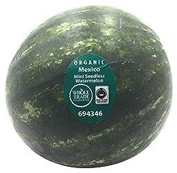 Melon Watermelon Mini Whole Trade Guarantee Organic, 1 Each
