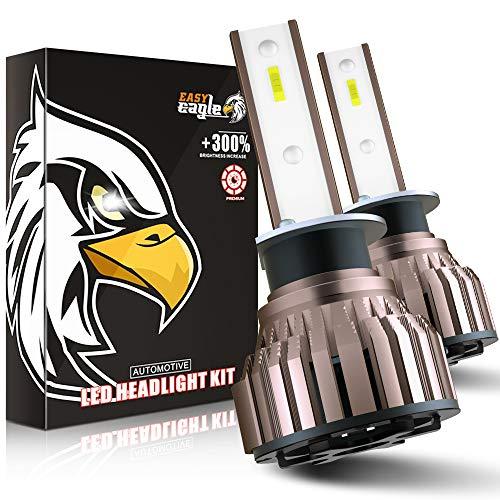 EASY EAGLE Ampoule H1 LED, 10800LM 6000K Phares pour Voiture et Moto, 2 Pièces