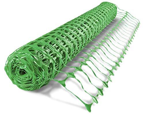 UvV ES-Team Warnnetz 4kg grün Schutznetz Fangnetz Auffangnetz Fangzaun Bauzaun Sicherheitsnetz 50 m Rolle, 1 Meter hoch