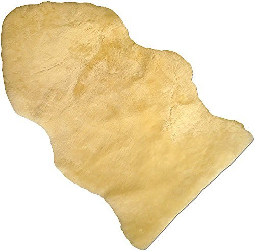 Baby Lammfell Naturform (Medlam Babylove) medizinisch gegerbt 100% Merino Naturfell Premium Qualität waschbar Länge 65/70cm Farbe med.