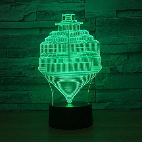 Nuevo giroscopio luz Nocturna Control táctil Colorido Toque Luces Infantiles Decorativas lámparas pequeñas Transporte de Gota