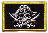 Flaggen Aufnäher Pirat mit blutigem Säbel Fahne Patch +