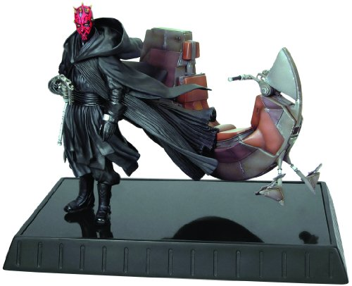 Star Wars Darth Maul with Bloodfin 18cm Statue