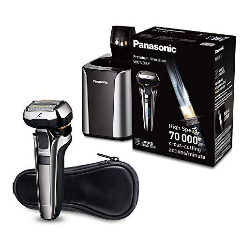 Panasonic Premium Rasierer ES-LV9Q mit ultraflexiblem 5D-Scherkopf, schonender Nass- und Trockenrasierer mit Reinigungsstation