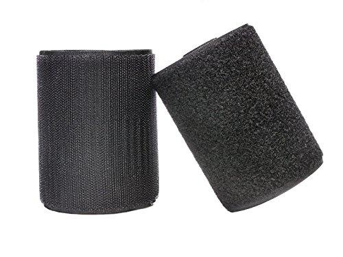 Yolito 10CM × 2M Rolle Klettband und Haken Aufnähen Tapes (Nicht Adhesive) Beide Seiten Enthalten, Schwarz