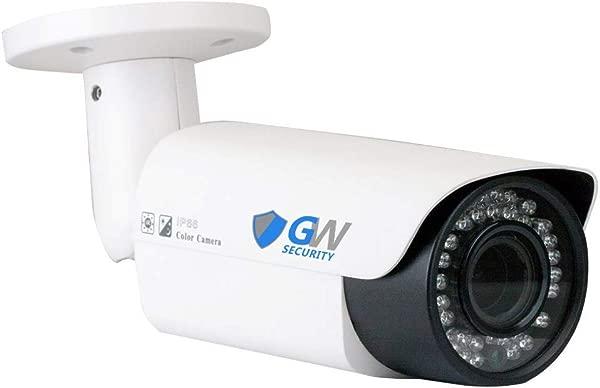 GW Security 5 Megapixel 2592 X 1920 Pixel Super HD 1920P Outdoor PoE 120FT Night Vision Weatherproof Security IP Camera With 2 8 12mm Varifocal Zoom Len