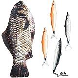 Fisch Geformt Federmäppchen Neuheit Fisch Federbeutel Fisch Geldbörse Lustige Federmäppchen mit Gepolstertem Dickschaum Futter und 4 Stück Süße Fisch Stifte Fisch Geschenke für Schule Klassenzimmer