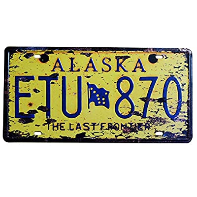 """Embossed Retro Vintage License Plate Replica, US States Historical Tin Sign, Auto Number Tags, 6"""" X 12""""/15x30cm"""