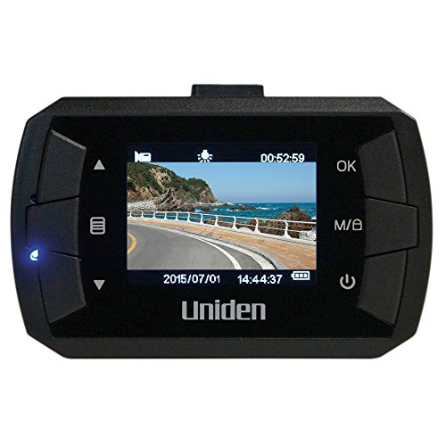 Uniden DC1, 1080p Full HD Dash Cam, 1.5' LCD, G-Sensor with Collision Detection, Loop Recording, 140-degree Wide Angle Lens, 8GB Micro SD Card Included