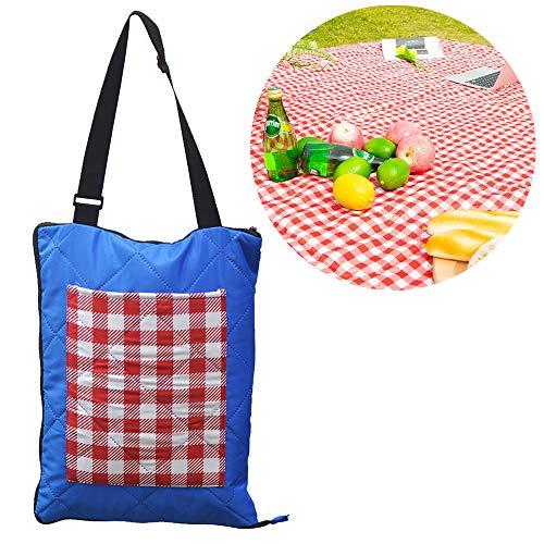 TEQStone Picknickdecke Wasserdicht Waschbar 200 X 150 cm XXL, Stranddecke Outdoordecke für Reisen, Camping, Picknick und Indoor Rot Weiß Karierte