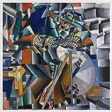 1art1 Kazimir Malévich Póster Impresión Artística con Marco (Plástico) - El Afilador de Cuchillos Principio de la Animación, 1913 (40 x 40cm)
