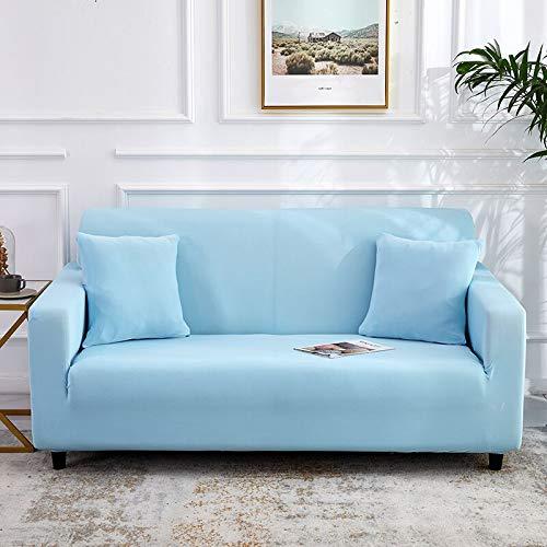 ASCV Solid Grey Elastic Sofabezug Tight Wrap All-Inclusive Sofabezüge für Wohnzimmer Couch Sofabezug A1 4-Sitzer