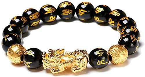 Black obsidian bracelet,Feng shui black obsidian wealth bracelet, Wealth bracelet feng shui Obsidian bracelet Attract wealth and good luck(12)
