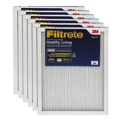 Filtrete MPR 1900 14 x 30 x 1 Healthy Living Ultimate Allergen Reduction AC Furnace Air Filter, 6-Pack