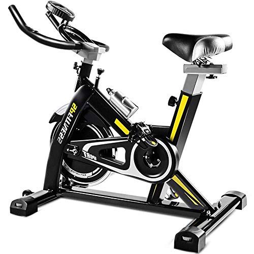 WCY Bicicleta de Spinning Home Fitness Equipment Silencio Spinning Indoor Bike Home Fitness Workout Trainer Ajustable Bicicleta del Ejercicio (Color: Negro, Tamaño: 100x50x120cm) yqaae
