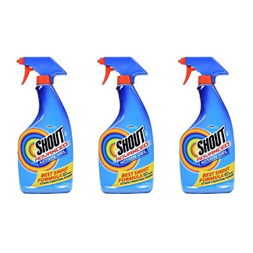 Advanced Stain Remover Gel 22 Ounces/Concentrated Gel/Spray Bottle (3 PACK) -  SHOUT