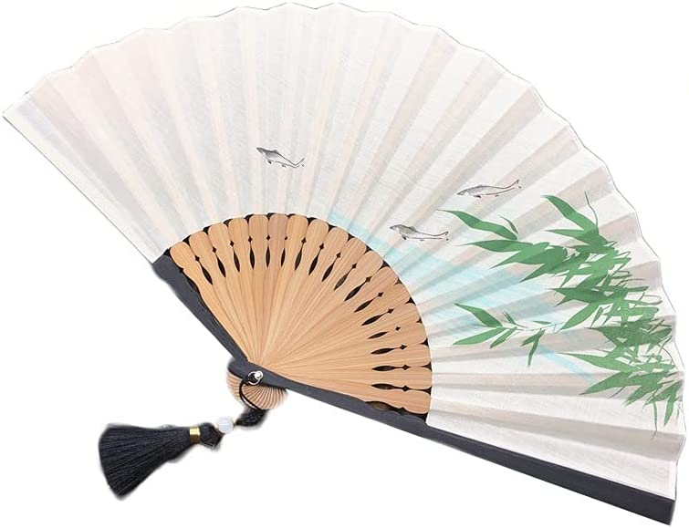 Folding Hand Fan Limited time sale Chinese Detroit Mall Style An Handmade Japanese