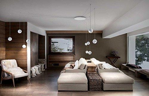 Studio Italia Spider–Lámpara colgante en crema de color blanco blanco mate   hecho a mano en Italia  –Lámpara de techo, diseño moderno
