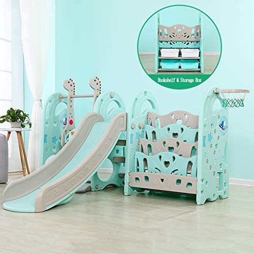 Purchase PNFP Baby Slides for Toddlers Indoor Play Structures with Swing and Basketball Hoop Can be ...