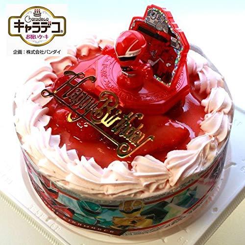 魔進戦隊キラメイジャー2020・キャラデコお祝いケーキ・ストロベリー色の生クリーム苺デコレーションケーキ5号スライス苺2段サンド(バースデーオーナメント・キャンドル6本付き)