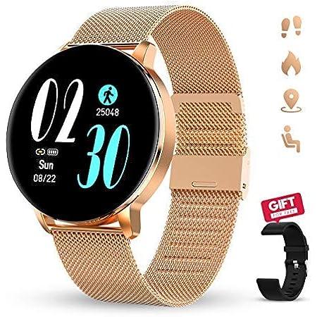"""GOKOO Reloj Inteligente Mujer Smartwatch 1.3"""" IPS Pantalla Pulsera Actividad Completa Táctil Reloj Deportivo IP67 Impermeable Compatible con iOS Android"""