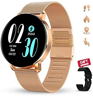 GOKOO Smartwatch for Women Smartwatches with Heart Rate Sleep Monitor All-Day Activity Tracker Steps Distance Calories Burned Music Remote Camera Control Notifications Customize Dial
