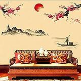 Adhesivo de pared Adhesivos de pared extraíbles Adhesivos de pared de vinilo DIY Adhesivos de pared de estilo chino Adhesivos de pared para muebles de pared/ armario Cocina Baño Ventana Pasillo