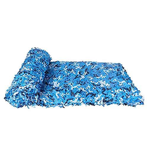 Malla de sombra ZXMEI Toldos De Camping, Red De Camuflaje Red De Camuflaje, Prevenir Fotografía Aérea, Azul (Size : 2x6m)